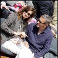 Emmanuelle Devos et Jean-Pierre Lorit, à Roland-Garros, le 31 mai 2010.