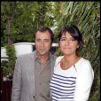 Bernard Montiel et Valérie Expert, à Roland-Garros, le 31 mai 2010.