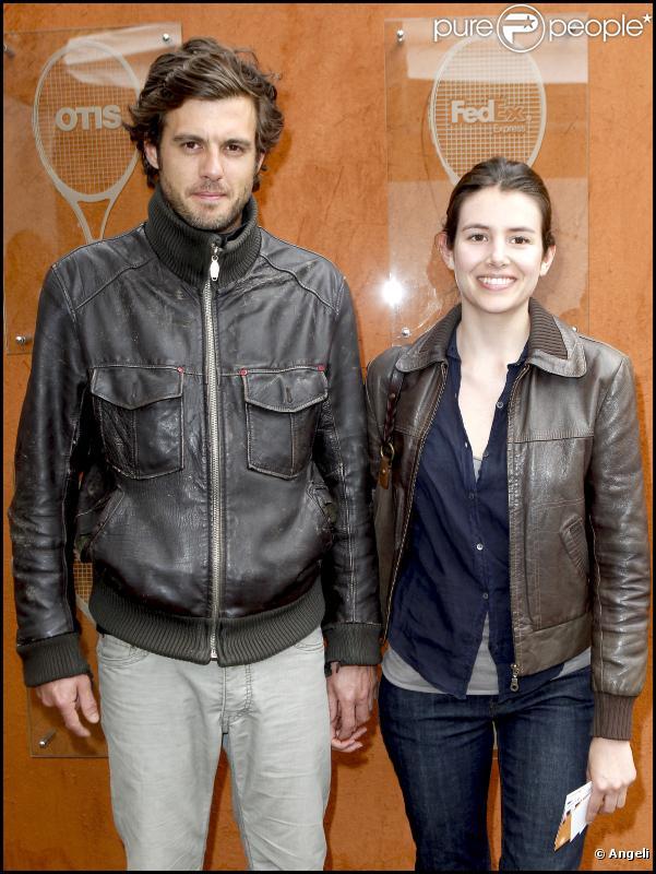 Louise Monot et Lannick Gautry à Roland-Garros, le 1er juin 2010.