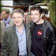 Patrick Bruel et Thierry Rey à Roland-Garros, le 1er juin 2010.