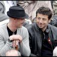 Frank Leboeuf et Patrick Bruel à Roland-Garros, le 1er juin 2010.
