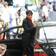 Janet Jackson en plein tournage du film  For Colored Girls Who Have Considered Suicide When the Rainbow Is Enuf , à New York le 3 juin 2010