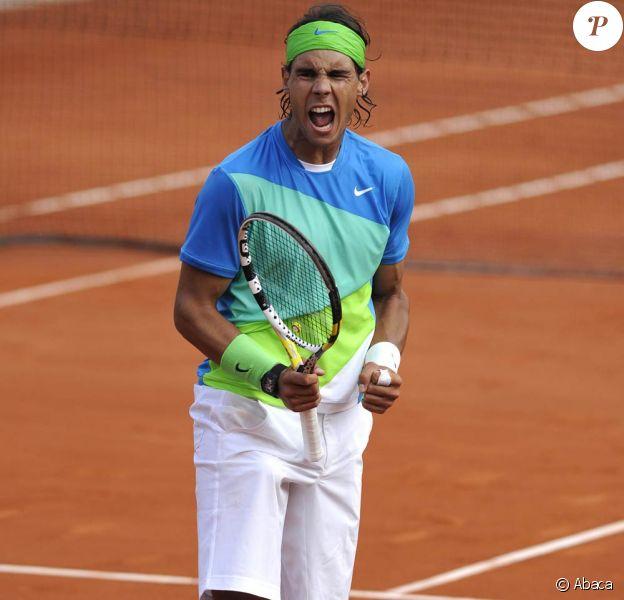 Rafael Nadal a remporté son cinquième tournoi de Roland-Garros, à Paris, le 6 juin 2010.