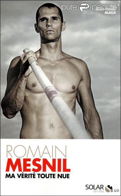 Le perchiste Romain Mesnil et son livre : Ma vérité toute nue