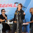 Miley Cyrus interprète Can't be tamed à Central Park (New York), dans le cadre de l'émission  Good Morning America , vendredi 18 juin 2010.