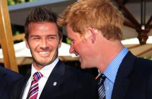 David Beckham : Avec les princes William et Harry, après la déception, les fous rires !