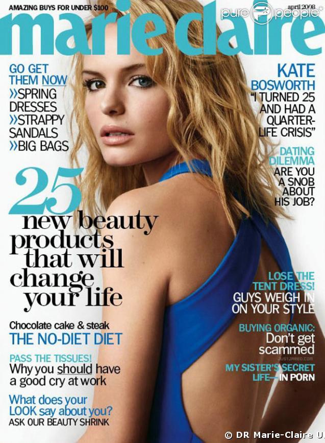 Kate Bosworth dans Marie-Claire UK
