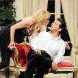 Alexandra Vandernoot et Michel Guidoni lors de la répétition générale de la pièce Le Président, sa femme et Moi, au théâtre de L'Alhambra. 22/06/2010