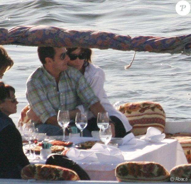 Nicolas et Carla Sarkozy lors de leur voyage en Egypte