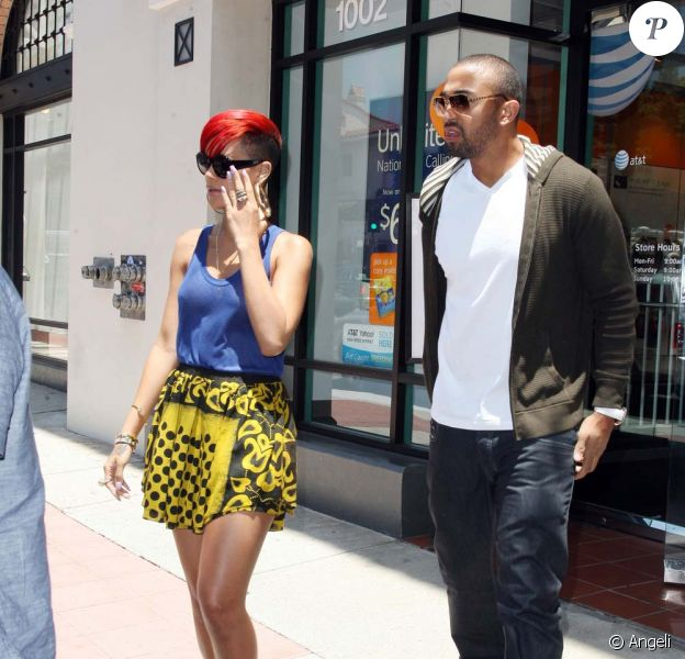 Rihanna et Matt Kemp en plein shopping à Los Angeles, le 24 juin 2010
