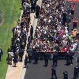 L'hommage à Michael Jackson dans le cimetière de Forest Lawn dans la banlieue de Los Angeles, un an après sa mort le 25 juin 2010