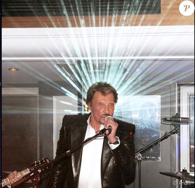 Johnny Hallyday le soir de son mini concert pour ses 67 ans !