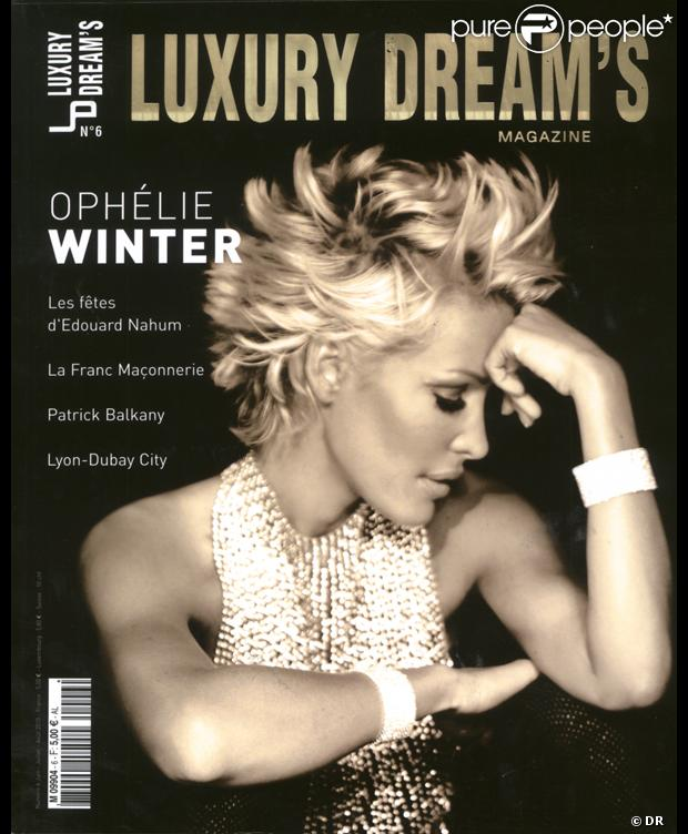 Ophélie Winter en couverture de Luxury Dreams