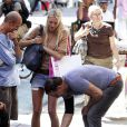 Mickey Rourke et la belle Annastassija dans les rues de New York, le 2 juillet 2010