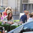 Leighton Meester et quelques amis à Paris, le 4 juillet 2010