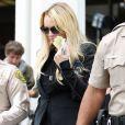 Lindsay Lohan, à la sortie du tribunal de Beverly Hills, après la sentence (3 mois de prison ferme), le 6 juillet 2010.