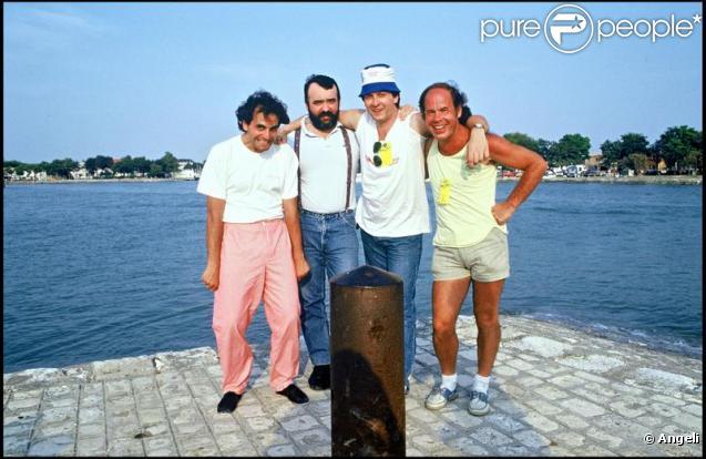 Olivier Guillot, Gilles Lecouty et Francis Vacher, en compagnie de Marc Toesca.