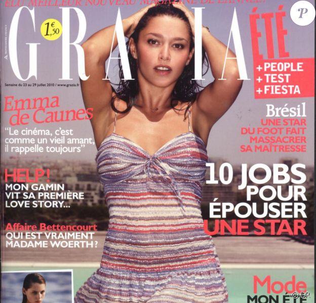 Emma de Caunes en couverture de Grazia
