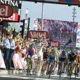 L'arrivée de l'étape du Tour de France et la victoire du sprinteur Mark Cavendish, à Bordeaux, le 23 juillet 2010.