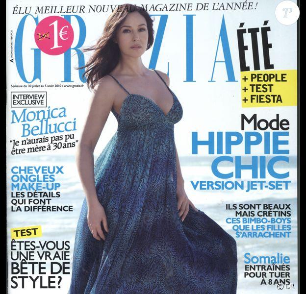 Monica Bellucci en couverture de Grazia, 30 juillet 2010