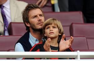 David Beckham avec ses fils... Il est parfait !