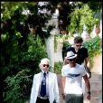 Karl Lagerfeld à Saint Tropez, le 5 août 2010