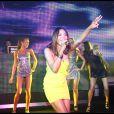 Amerie lors de l'évenement crée par P. Diddy pour le lancement de son nouvel album Last Train in Paris, au Palm Beach Summer Club de Cannes