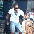 Pharrell Williams lors de l'évenement crée par P. Diddy pour le lancement de son nouvel album Last Train in Paris, au Palm Beach Summer Club de Cannes