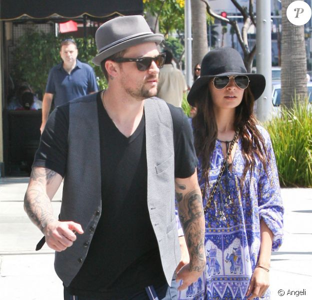 Nicole Richie et Joel Madden à Beverly Hills, le 8 août 2010