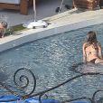 J-Lo, son époux Marc Anthony, et leurs enfants se reposent sous le soleil de Mexico. Juillet 2010
