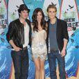 Nina Dobrev, Paul Wesley et Ian Somerhalder arrivent à Los Angeles, le 8 août 2010