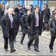 Une délégation du Stade Français, Christophe Dominici et Max Guazzini en tête, arborait la cravate du club dont Thierry Gilardi était vice-président