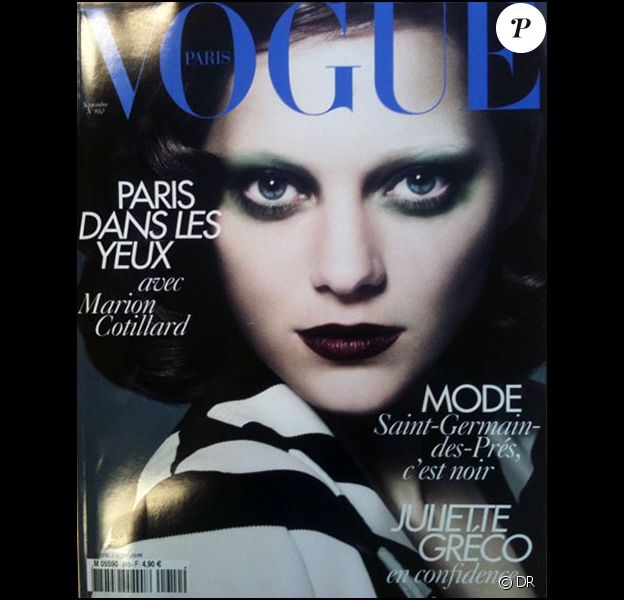 Marion Cotillard en couverture du Vogue Paris