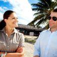 Victoria de Suède et le prince Daniel lors de leur lune de miel en Polynésie française, à l'été 2010. Le businessman suédois Bertil hult, ami de la famille royale, n'est pas pour rien dans la réussite de ce voyage...