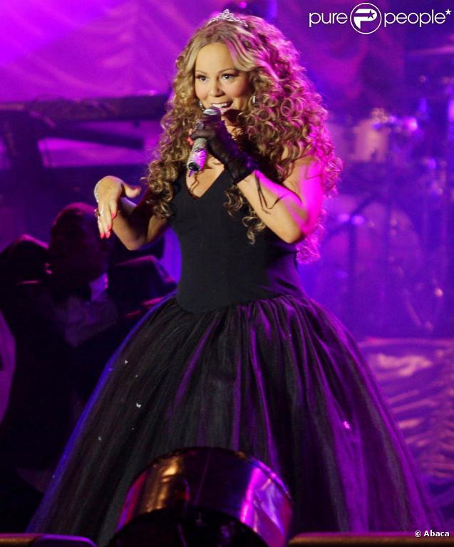 Mariah Carey en concert au festival Rodeo of Barreto, au Brésil, le 21 août 2010