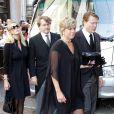 Les obsèques du prince Carlos Hugo de Bourbon-Parme, décédé le 18 août, se sont déroulées le 28 août à la basilique Santa Maria della Steccata. Les princes Constantijn et Friso avec leurs épouses Laurentien et Mabel.