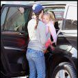 Jennifer Garner, ses filles et sa mère 31 août 2010 à Brentwood