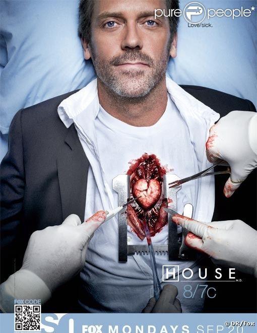 Affiche promotionnelle de House (saison 7)