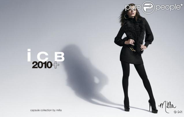 Milla Jovovich pour la collection automne 2010 de la marque ICB - ligne capsule par Milla Jovovich