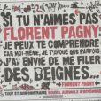 Affiche promo Florent Pagny, septembre 2010