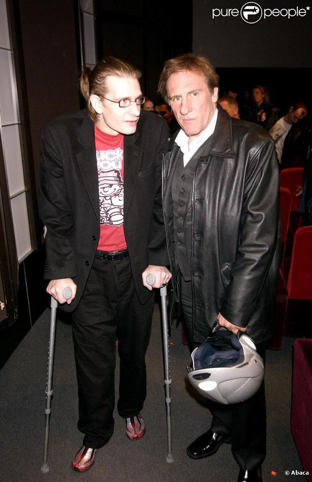 Guillaume et Gérard Depardieu en 2002