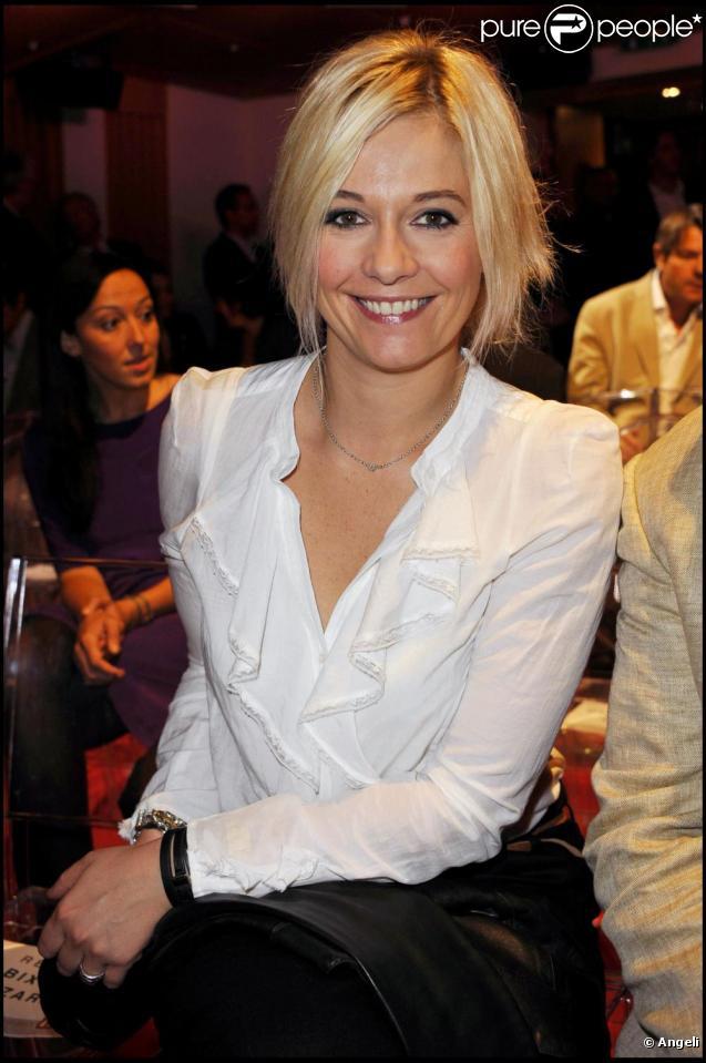 Flavie Flament à la conférence de presse de la radio RTL, pour la rentrée 2010