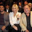 Bixente Lizarazu, Flavie Flament et Jacques Pradel à la conférence de presse de la radio RTL, pour la rentrée 2010