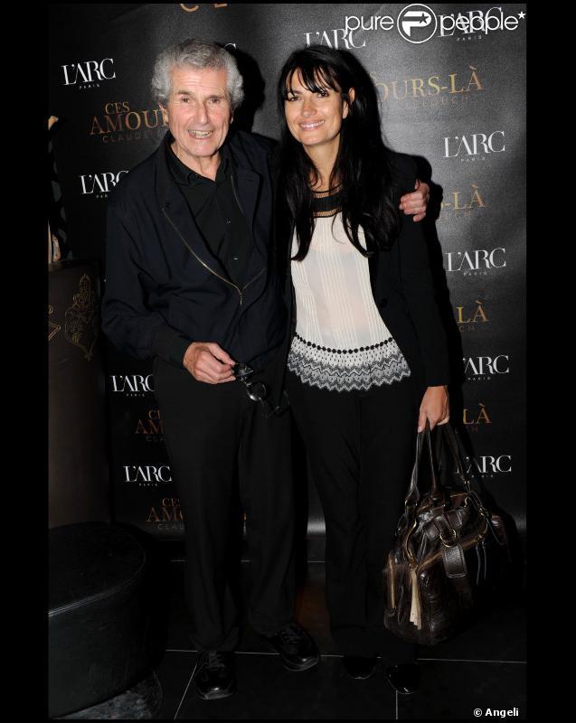 Claude Lelouch et sa compagne Valérie lors de la soirée à L'Arc suivant l'avant-première du film Ces amours-là à Paris le 12 septembre 2010