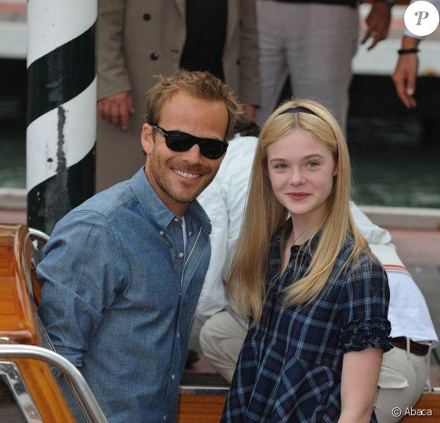 Stephen Dorff et Elle Fanning, lors de la présentation de Somewhere, Lion d'Or de la 67e Mostra de Venise, en septembre 2010.