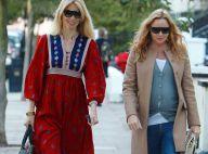 Claudia Schiffer : Le magnifique top rencontre sa copine Stella McCartney très enceinte, sur le chemin de l'école !
