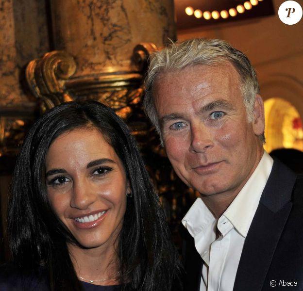 Inauguration de la statut de cire de Franck Dubosc au musée Grévin, le 20 septembre 2010 : Franck Dubosc et son épouse Danièle !