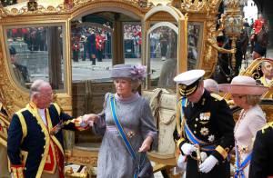 La Reine Béatrix des Pays-Bas : Un lourd projectile... lancé sur son carrosse !