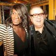 FX et Michel Michel, à l'occasion des 20 ans du Banana Café, à Paris, le 20 septembre 2010.