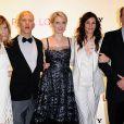 Dede Gardner, Ryan Murphy, Elizabeth Gilbert,  Julia Roberts et Richard Jenkins, à l'occasion de l'avant-première britannique de  Mange, Prie, Aime , à l'Empire Cinema de Leicester Square, à Londres, le 22 septembre 2010.